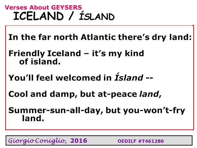 limerick; travel; Iceland; climate; Giorgio Coniglio