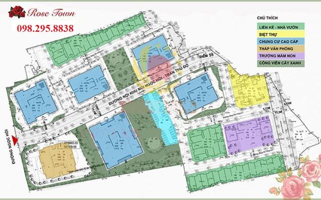 Quy hoạch tổng thể và tiện ích hạ tầng chung cư Rose Town