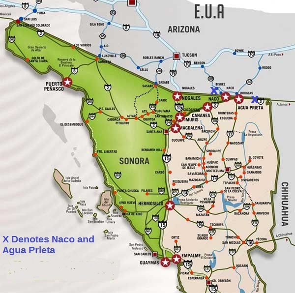 Map Of Arizona Border.Borderland Beat Mexico Arrests 2 For Murder Of Border Patrol Agent
