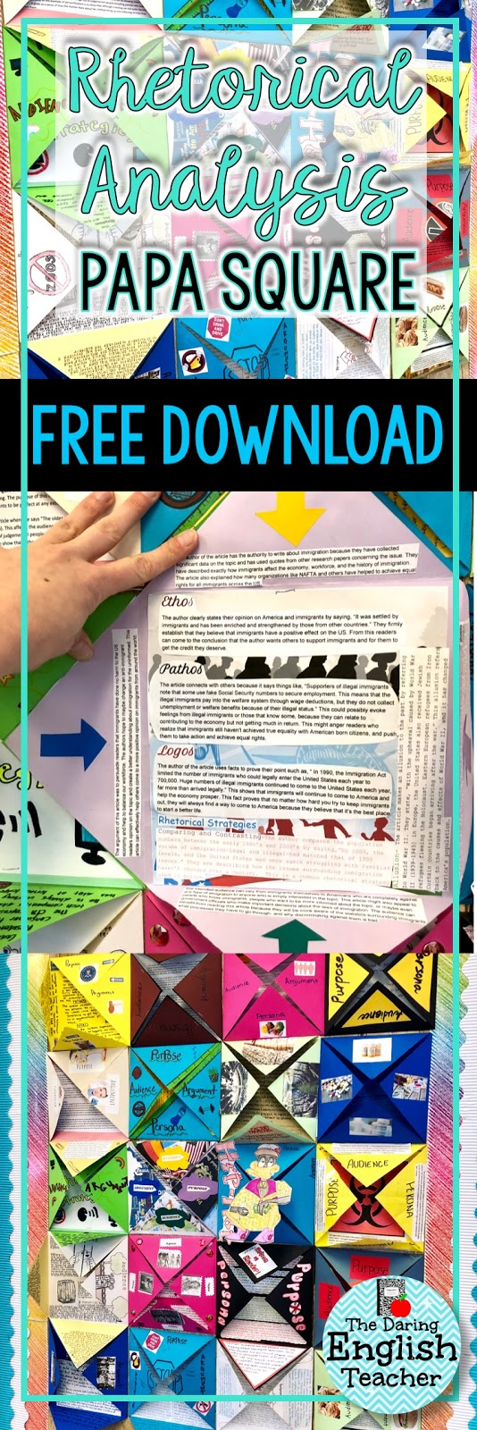 The daring english teacher rhetorical analysis art project for middle school and high school students biocorpaavc