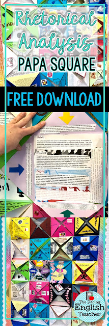 Rhetorical analysis art project for middle school and high school students