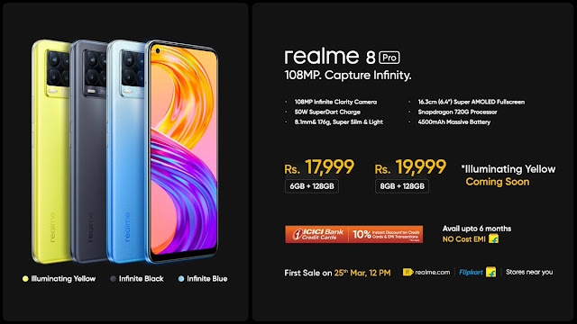 Realme 8 Pro launched along with Realme 8 - Comes equipped with Snapdragon 720G, 4500mAh battery, and 6.4-inch Super AMOLED Display | TechNeg
