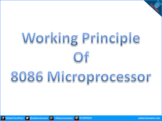 Write the working principles of 8086 microprocessor.
