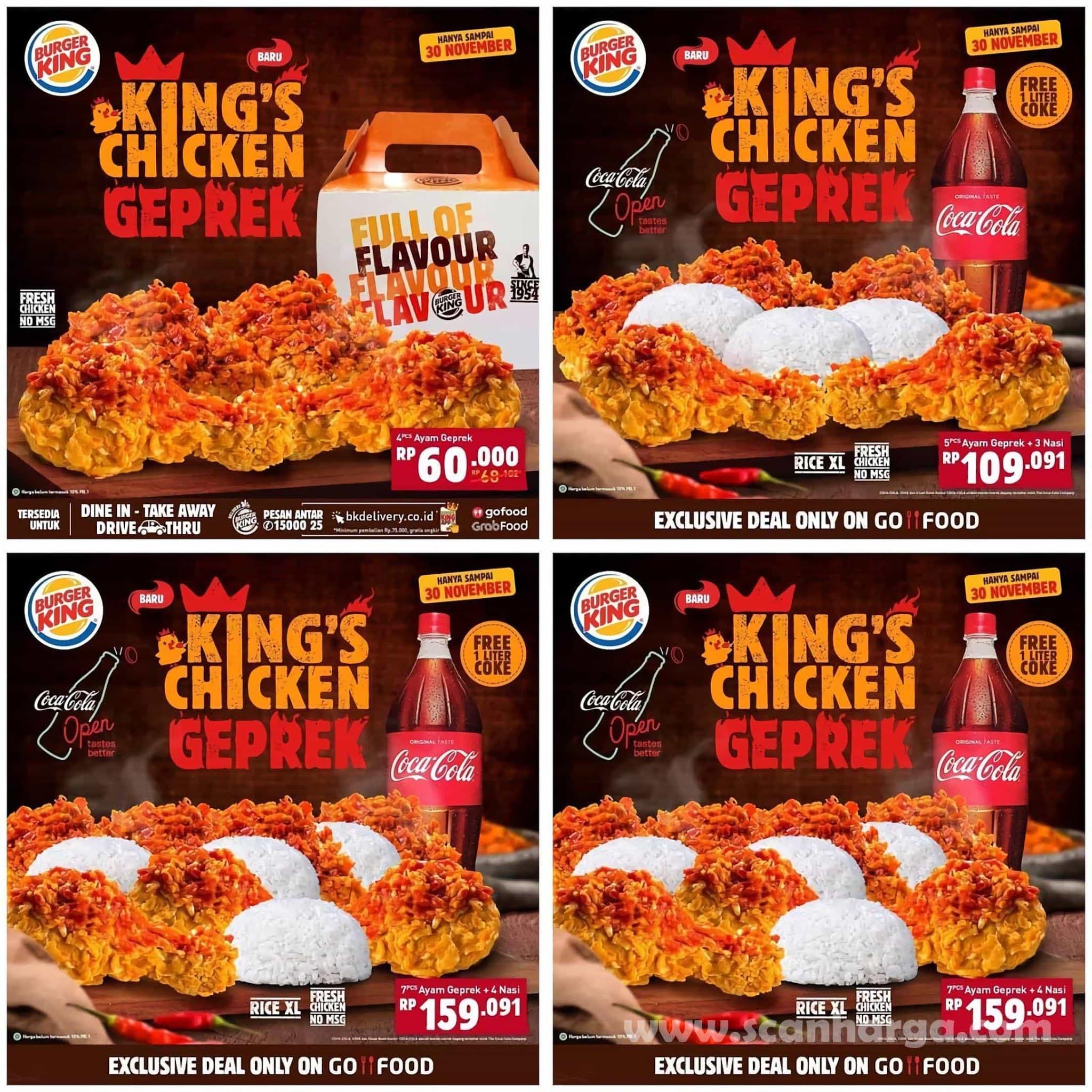 Burger King BUPREK & CHICKEN GEPREK mulai dari Rp 23.182,- hingga 30 November 2020