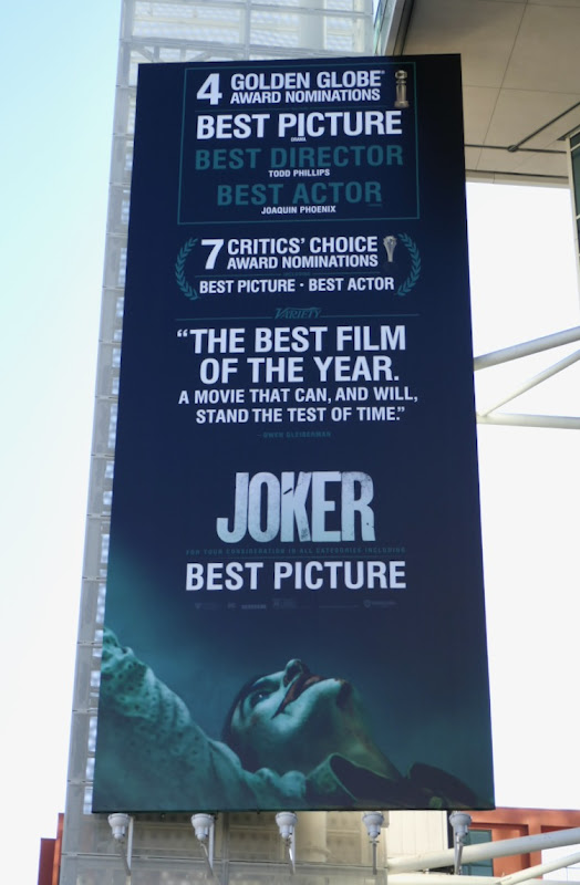 Joker Best Picture consideration billboard