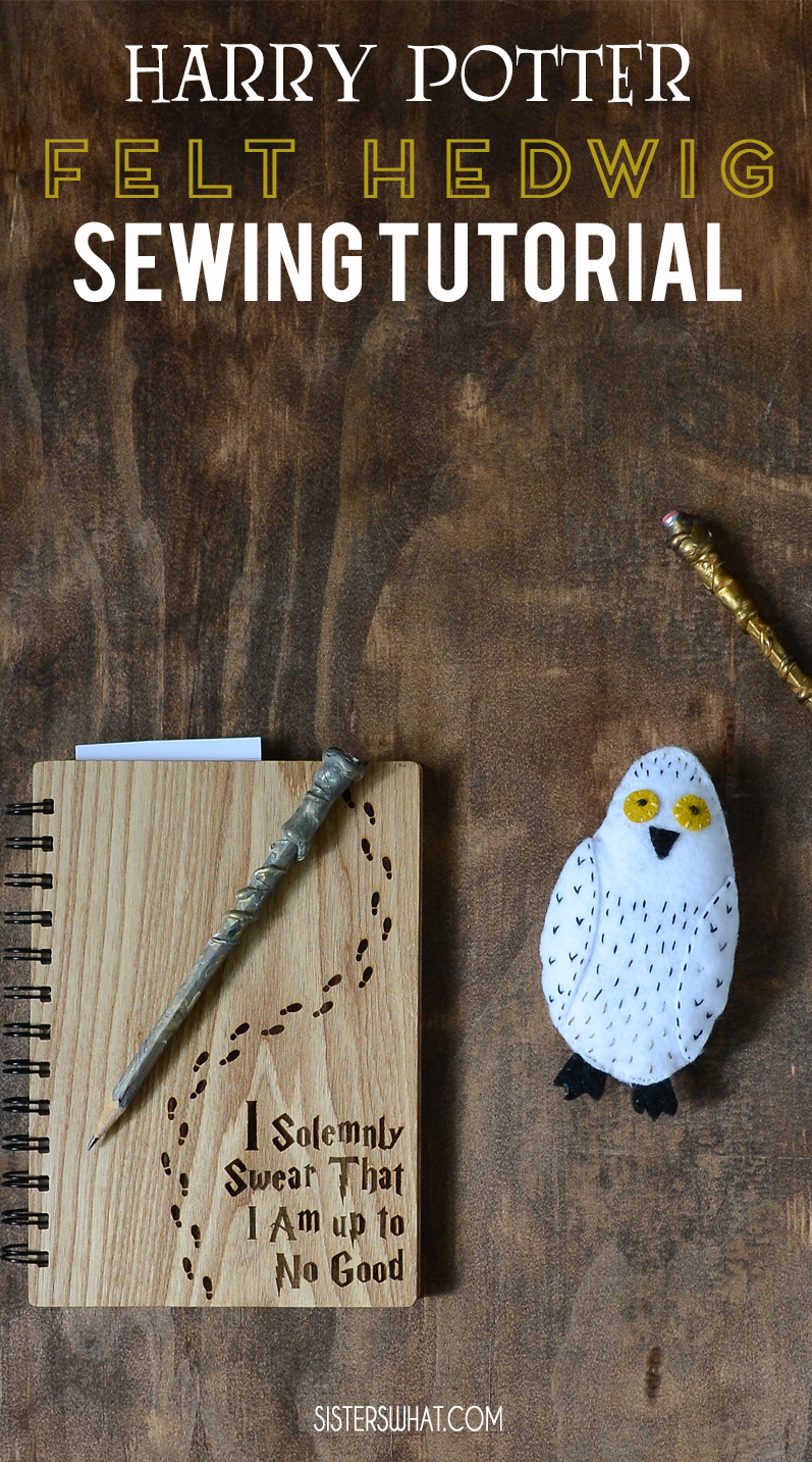 Harry Potter felt owl sewing pattern tutorial