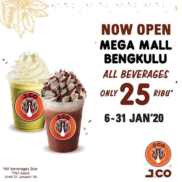 #JCO - #Promo Opening All Beverage Hanya 25K di MEGA MALL BENGKULU (s.d 31 Jan 2020)