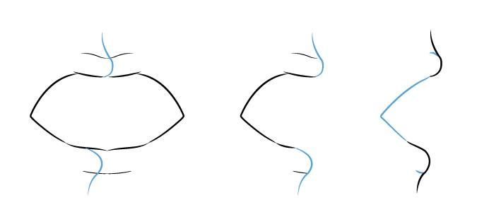 Contoh bibir anime membuka mulut tampilan gambar