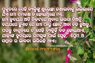 ଶୁଭ ସକାଳ, ଶୁଭ ସକାଳ good morning status for WhatsApp in odia