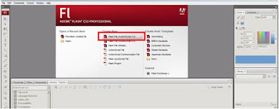 actionscript 3 di adobe flash cs3 new file flash