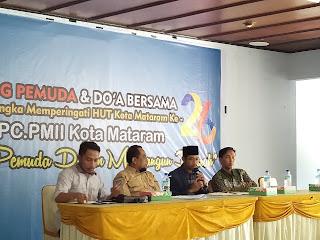 Meriahkan HUT Mataram, PMII Gelar Dialog Publik.