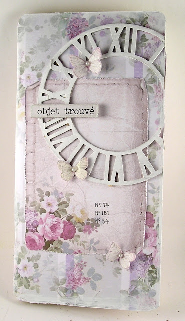 Stamperia Lilac Paper Tim Holtz Sizzix Timekeeper Die Graphic 45 Kraft Travel Album For the Funkie Junkie Boutique