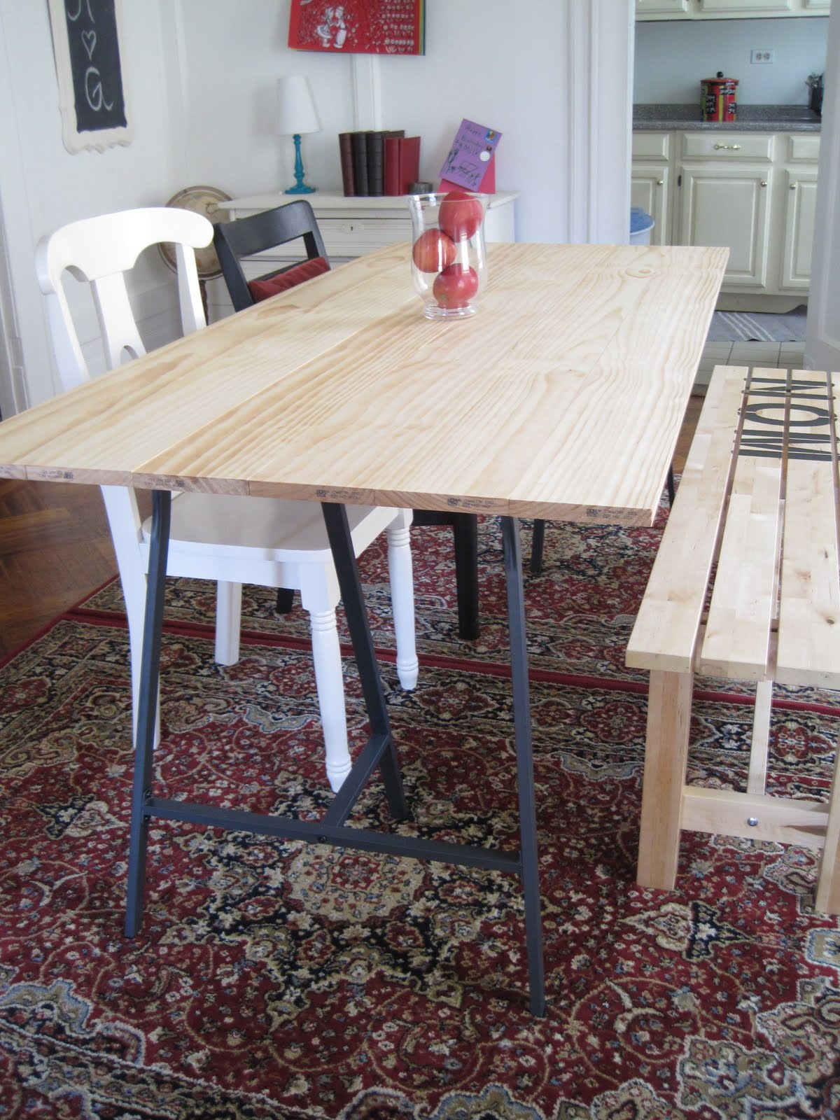 Kitchen Of The Week A Diy Ikea Country Kitchen For Two: Harlem Home: How To: Build A Dining Room Table For $100