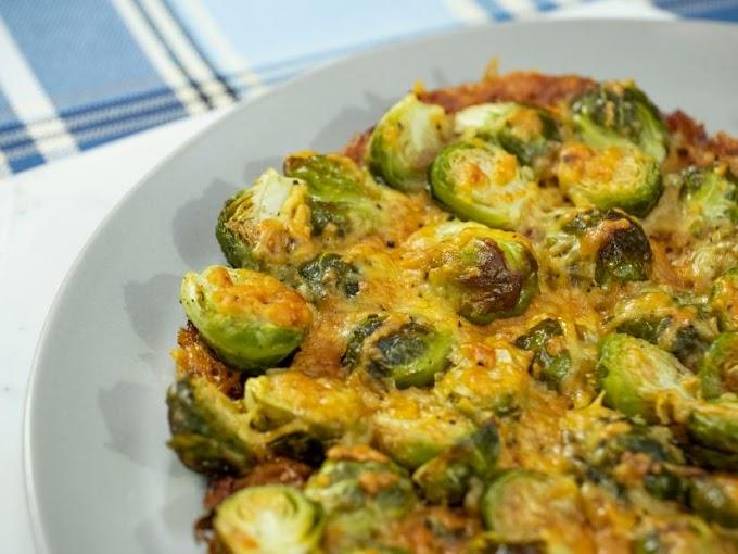Garlic Brussels Sprouts Potatoes #vegan #vegetarian #soup #breakfast #lunch