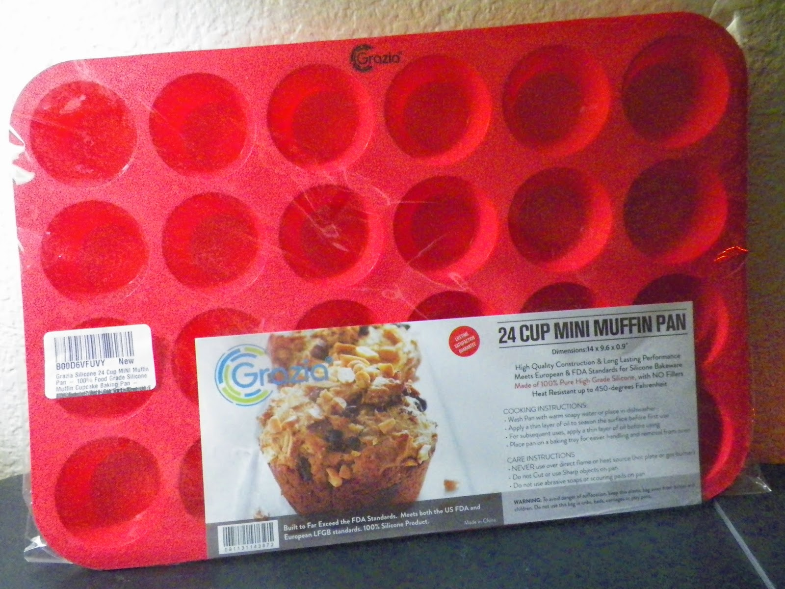 mygreatfinds: Grazia 24-Cup Silicone Mini Muffin Pan Review
