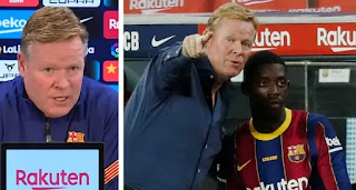 Koeman reveals his strong love for Dembele: 'He has improved physically'