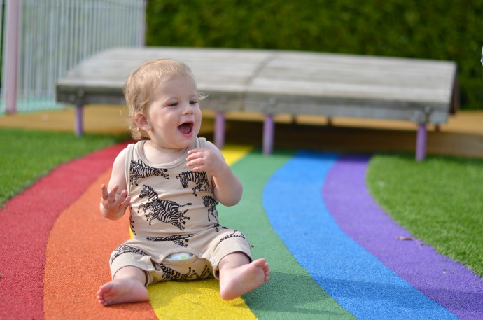 peppa pig world with a baby, paulton's park