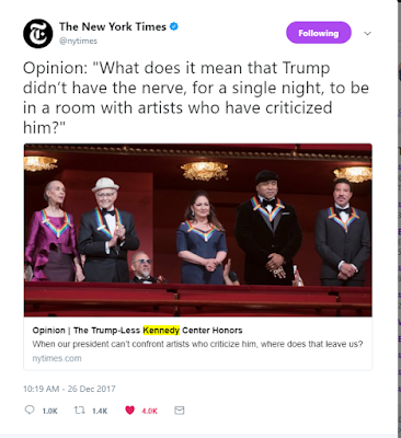 The New York Times Op Ed regarding Kennedy Center Honors, #KCHonors