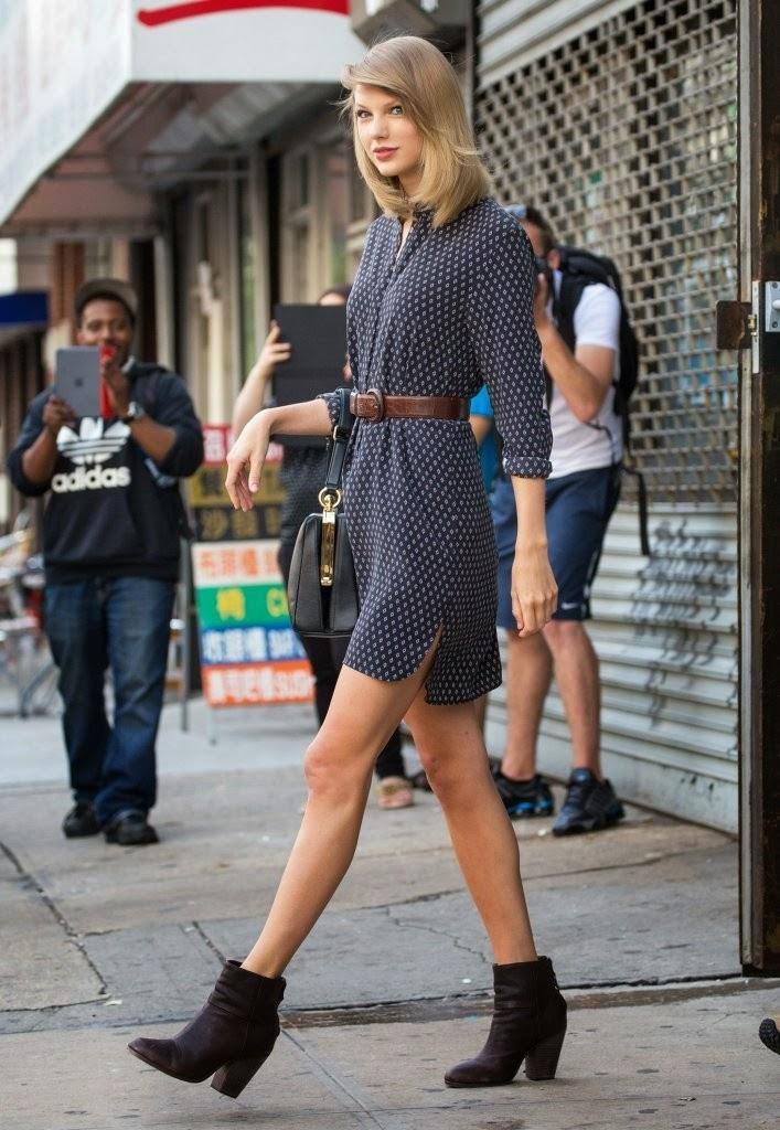 ece0e0731d0 Shoe Game of the Stars  Rag   Bone Newbury Booties - Taylor Swift