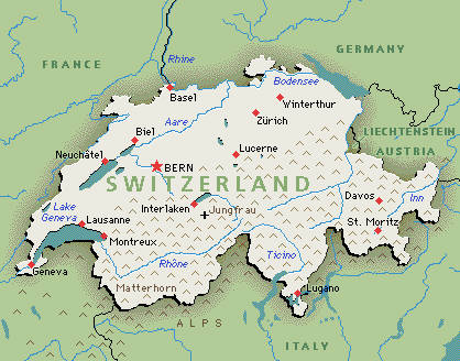 Switzerland Natural Resources Map
