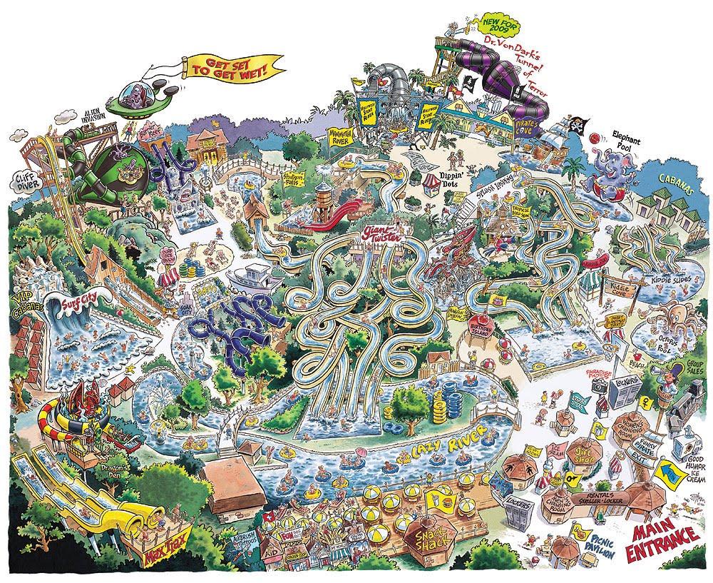 Splish Splash Long Island Map