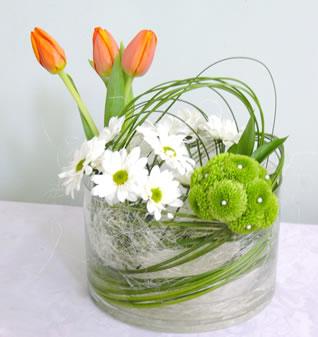 decoracin de bodas centros de mesa y arreglos florales con tulipanes