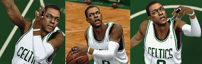 NBA 2K13 Rajon Rondo Realistic Cyber Face Patch