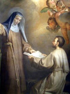 Viterbo-born Domenico Corvi's painting of Saint Hyacintha Mariscotti