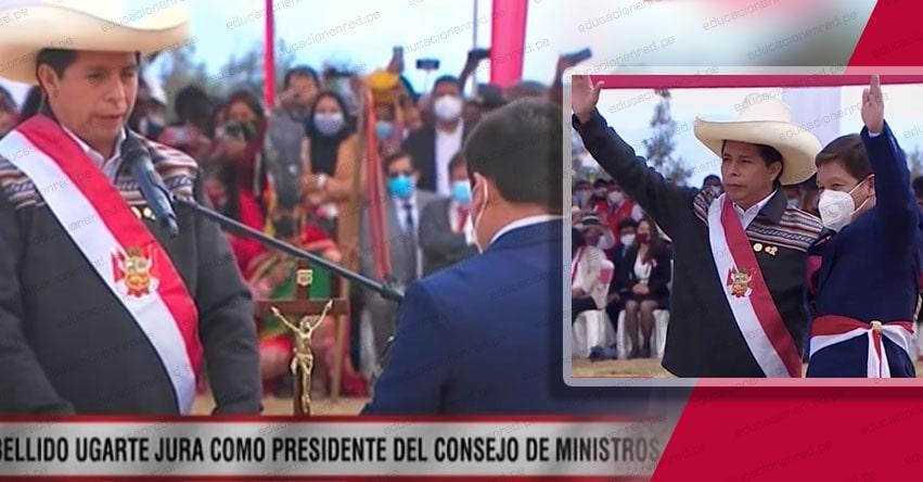 PCM: Presidente Castillo tomó juramento a Guido Bellido Ugarte como jefe del Gabinete Ministerial