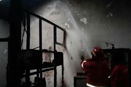 TV Meledak, Sebuah Rumah Warga di Nganjuk Hangus Terbakar