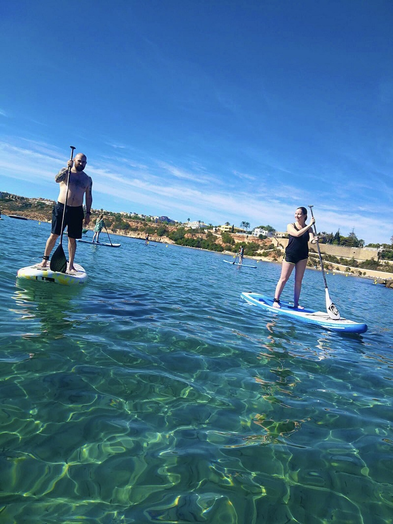 SUP - Paddleboarding at Cabo Roig on the Costa Blanca