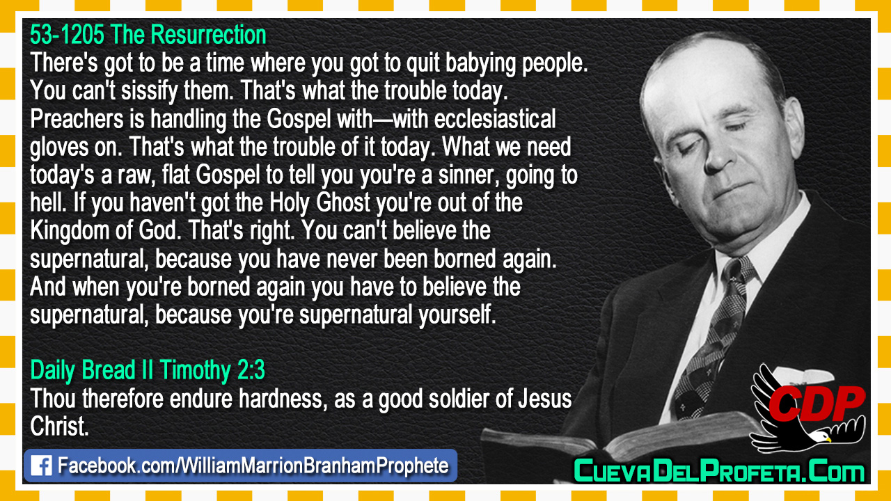 Parce que vous êtes vous-même surnaturel - William Marrion Branham