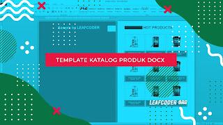 Contoh dan Download Template Katalog Produk DOCX