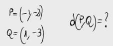 47. Distancia entre dos puntos