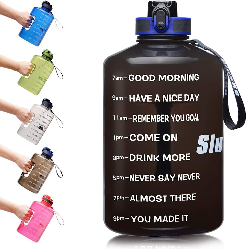 30% off  SLUXKE 1 Gallon Water Bottle with Motivational Time Marker,