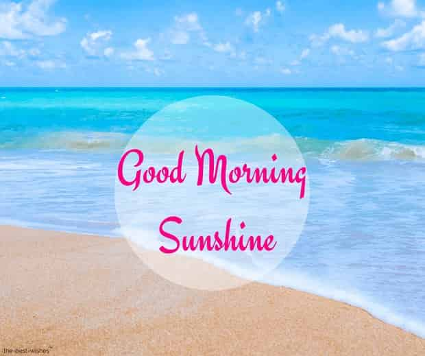 good morning sunshine sea view images