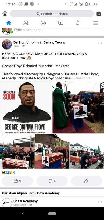 George Floyd Buried Again In Mbaise Imo State Of Nigeria By 'his Kinsman'
