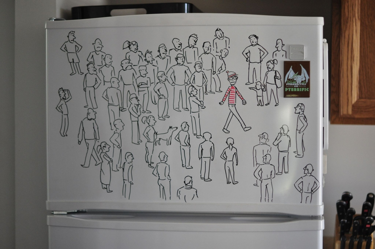 18-Where-is-Waldo-Charlie-Layton-Freezer-Door-Drawings-and-Illustrations-www-designstack-co