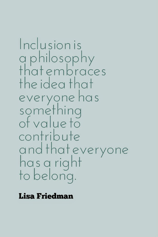 the journey: inclusion