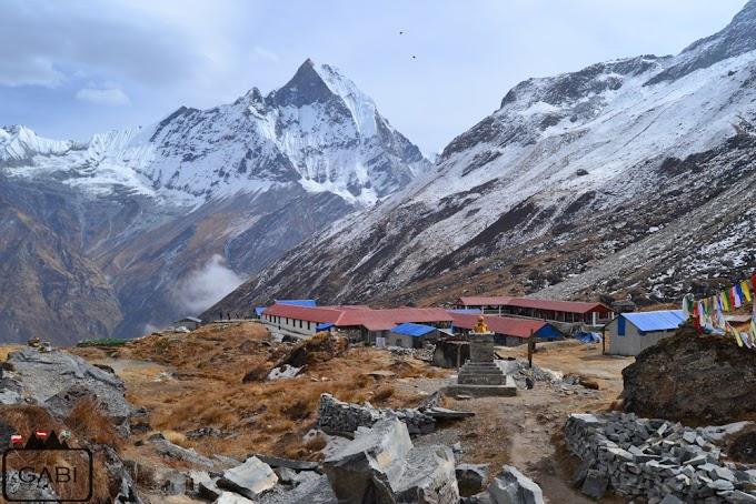 Helikopterem na Annapurna Base Camp