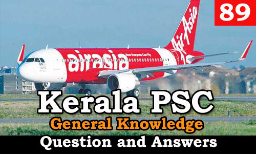 Kerala PSC General Knowledge Question and Answers - 89