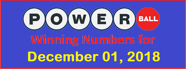 PowerBall Winning Numbers for Saturday, 01 December 2018