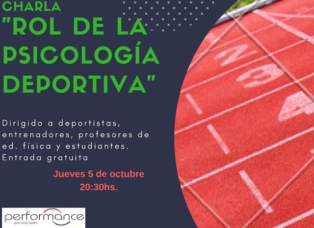 Charla informativa sobre Psicología Deportiva de la clínica Performance (Maldonado, ju 05/oct/2017)