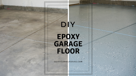 do it yourself divas: DIY Epoxy Shield Garage Floor