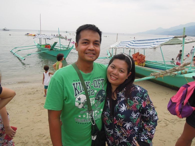Couple travel bloggers at Paseo Verde Beach Resort
