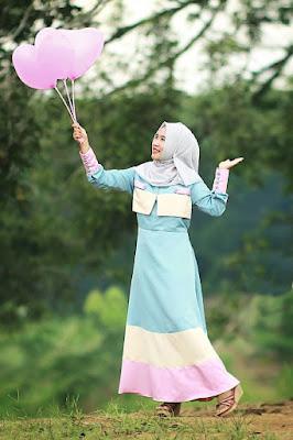 Foto Cewek Model  hijab 3 layer hijab Foto Cewek Model  3d