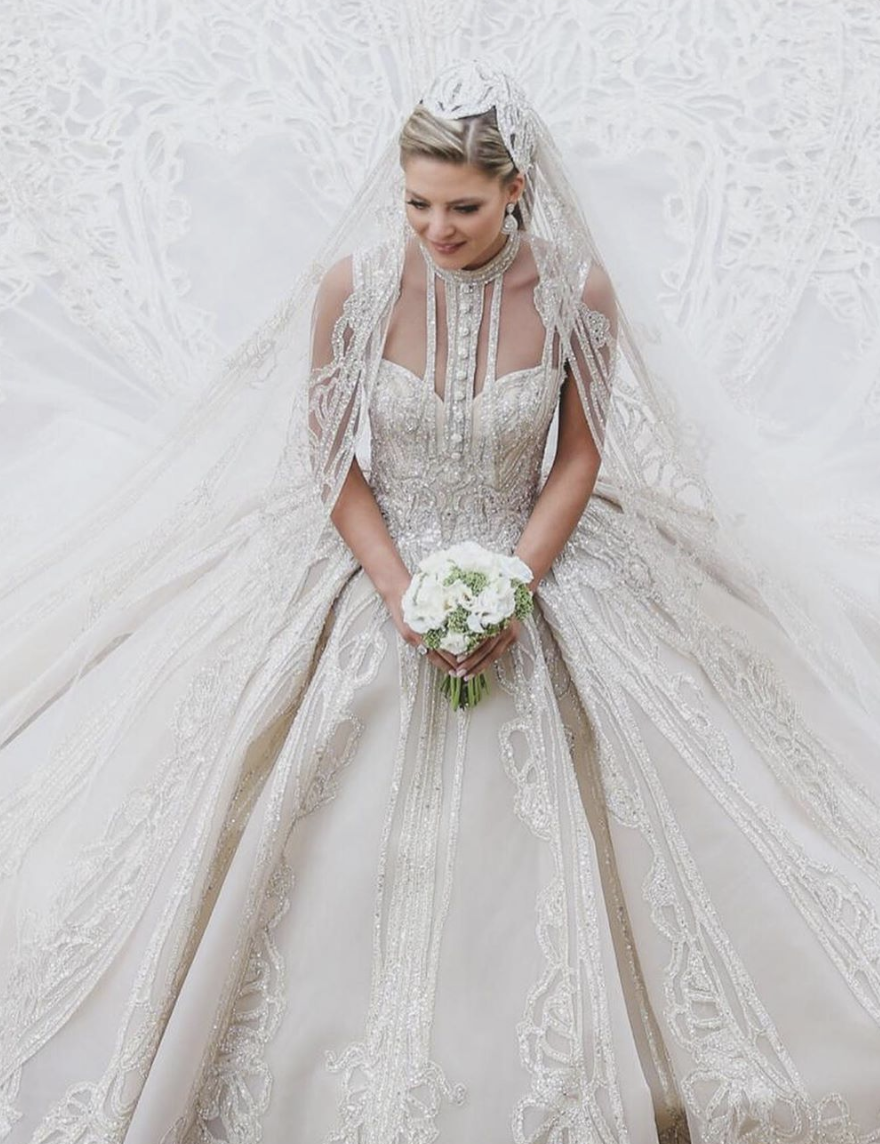 Elie Saab Custom Cinderella Bridal Gown For Christina Mourad The