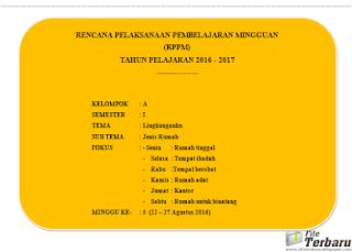 Download Contoh Program Mingguan RKM RPPM PAUD Kurikulum 2013 Minggu Ke 5