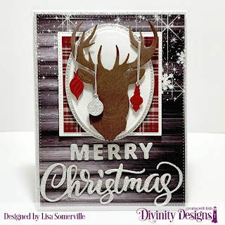 Custom Dies: Deer Silhouette, Mini Lights & Ornaments, Circles, Pierced Circles, Squares, Pierced Squares, Pierced Rectangles, Merry Christmas, Paper Collection: Rustic Christmas