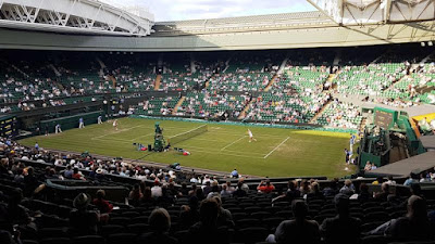 Distant view of Centre Court